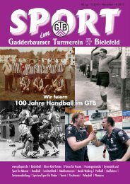 100 Jahre Handball im GTB - Gadderbaumer Turnverein v. 1878 eV ...