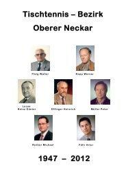 Tischtennis – Bezirk Oberer Neckar 1947 – 2012 - TTVWH Bezirk ...