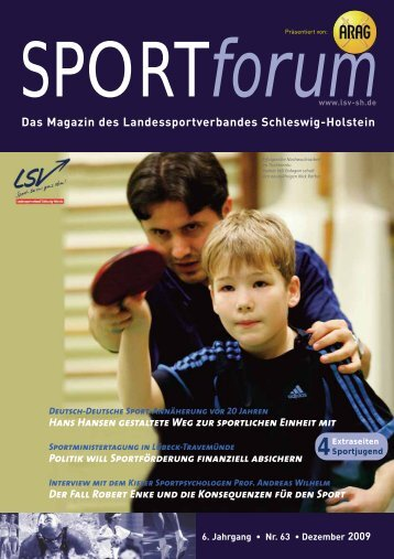 SPORT forum - Landessportverband Schleswig-Holstein
