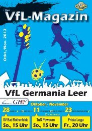 als pdf-Download! - VfL Germania Leer