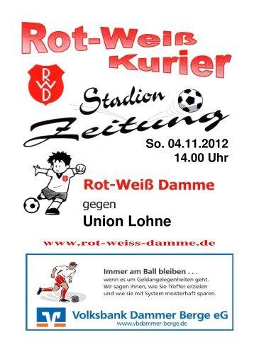 2012.11.04 RW-Kurier Ausgabe 07 - Rot Weiss Damme