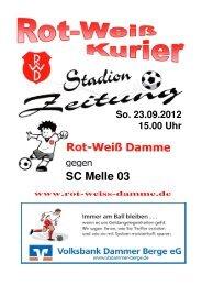 2012.09.23 RW-Kurier Ausgabe 04 - Rot Weiss Damme
