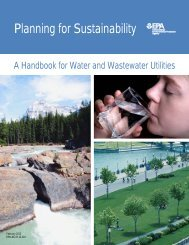 Planning for Sustainability - Water - US Environmental Protection ...