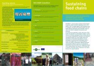 Sustaining food chains - IfLS