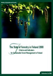 TThe State of Forestry in Finland 2000
