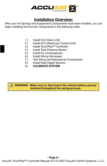 OFF ON Controller IGN 1 2 Accuair Valve Wiring Diagram on