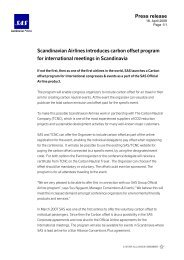 Press release Scandinavian Airlines introduces carbon offset ... - SAS