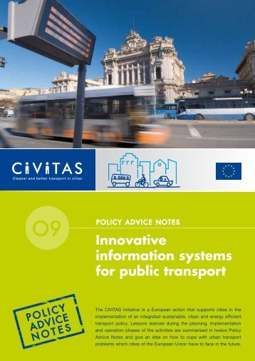 Innovative information systems for public transport - CIVITAS