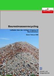 Publikation: Baurestmassenrecycling - Leitfaden über ... - Umweltprofis