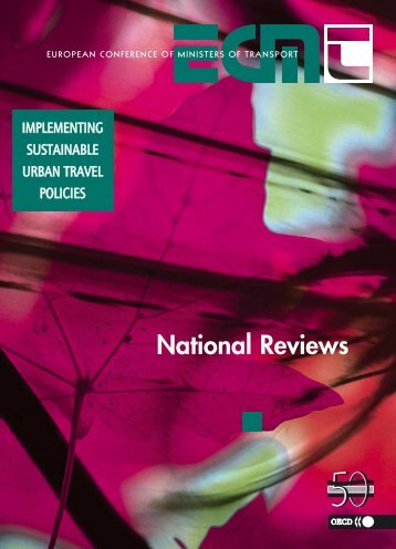 Implementing Sustainable Urban Travel Policies: National Reviews ...