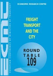 Round Table 109 – Freifht Transport and the City - International ...