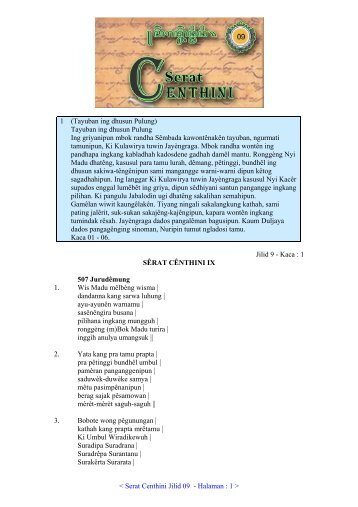 09. Serat Centhini Jilid 09 (PDF) - Adjisaka.com