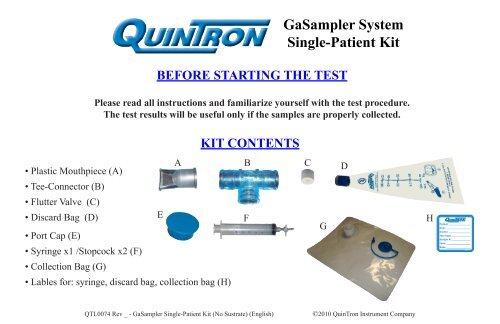 GaSampler Single Patient Kit Instructions (General):pdf