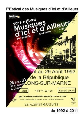 historique de la programmation du festival - Musiques d