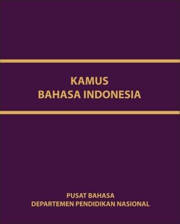Kamus Bahasa Indonesia - Perpustakaan Online - Kementerian ...