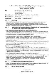 Protokoll der 1. ordentlichen Delegiertenversammlung des ...