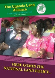Ula Newsletter - Uganda Land Alliance