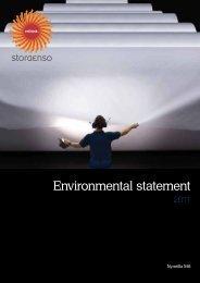 Environmental statement 2011 - Stora Enso