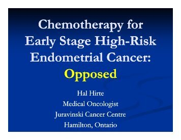 Chemotherapy for Chemotherapy for Early Stage High ... - Imedex