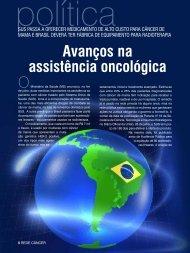 Avanços na assistência oncológica - Instituto Nacional de Câncer