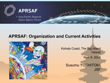 Susumu Yoshitomi, Special Counselor, Japan Space Forum - justsap