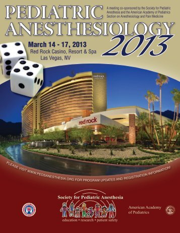 Pediatric Anesthesiology 2013! - The Society for Pediatric Anesthesia