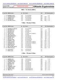 Offizielle Ergebnisliste - TSV Uetersen - Leichtathletik