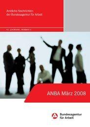 Die Entwicklung des Arbeits- und Ausbildungsmarktes - Statistik der ...