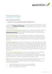 Pressetextmeldung Microsoft Excel 2010 -; Ersatz f