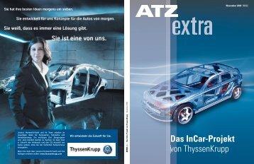 Das InCar-Projekt von ThyssenKrupp - InCar - ThyssenKrupp AG