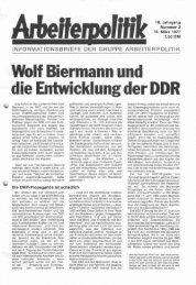 die Entwicklung der DDR - der Gruppe Arbeiterpolitik