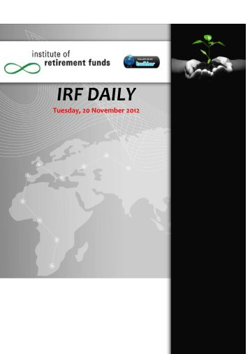 Download IRF Daily Issue - Institute of Retirement Funds