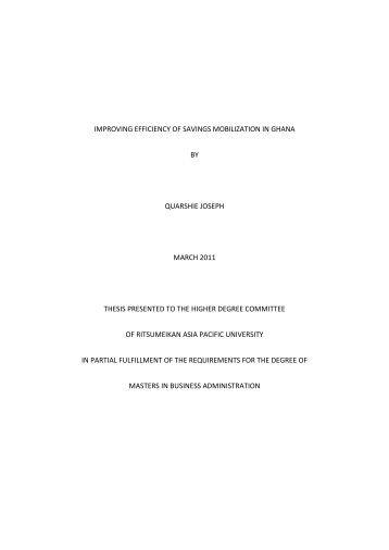 emission thesis ghana
