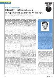 Integrative Tiefenpsychologie in Hypnose und ... - D-gth.com