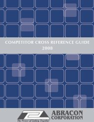 COMPETITOR CROSS REFERENCE GUIDE - Abracon