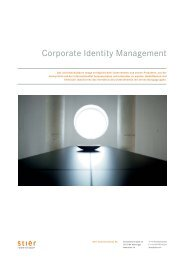 Corporate Identity Management - Stier Communications AG
