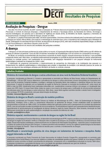 Resultados de Pesquisas - Dengue - BVS Ministério da Saúde