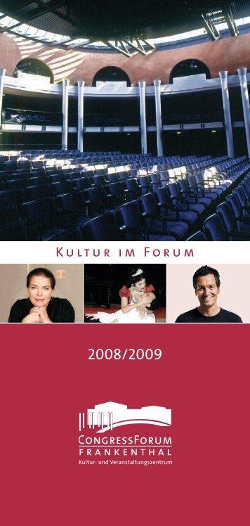 Kultur im Forum - CongressForum Frankenthal