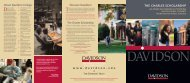 Leadership, Ability, and Opportunity - Davidson College