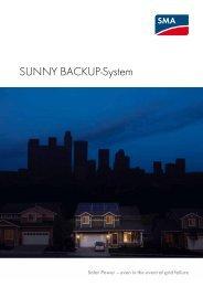SUNNY BACKUP-SYSTEM - Solar Power - SMA Solar Technology AG