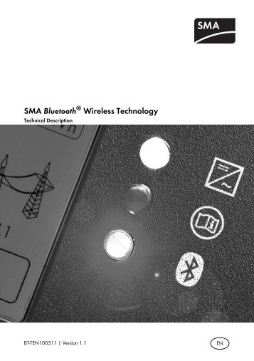 SMA Bluetooth® Wireless Technology - Technical Description