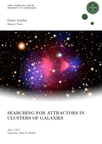 searching for attractors in clusters of galaxies - Dark Cosmology ...