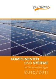 Komponenten und SySteme - Gehrlicher Solar