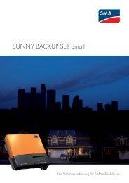 SUNNY BACKUP SET Small - SMA Solar Technology AG