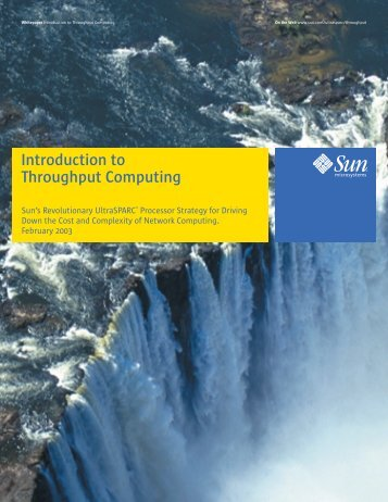 Introduction to Throughput Computing