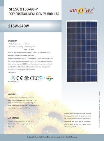 SF156 X 156-60-P - GAP Energy GmbH