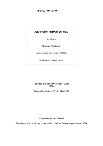 pdf School inspection report - Ofsted