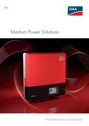 Medium Power Solutions - Sunny Family 2011/2012