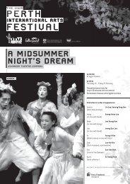A Midsummer Night's Dream Event Programme - Perth International ...