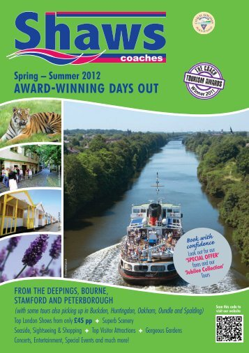Spring - summer 2012 award -winning days out - Shaws Coaches